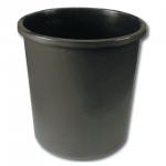 Корзина д/бумаг 18л серая  черная цельная  (КР42)