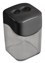 Точилка Пластик двойная с контейнером Wave Ассорти  (21835)