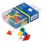 Кнопки Гвоздики Цветные Пирамидка 50шт пл/бл/уп  (PF0533)